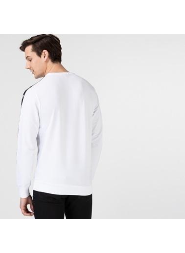 Lacoste Erkek Bisiklet Yaka Sweatshirt SH0109.09B Beyaz